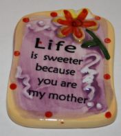 Ceramic Mother Verse Magnet - Yellow